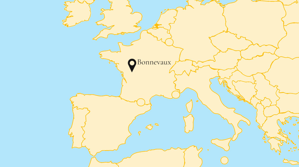 Map with Bonnevaux Location