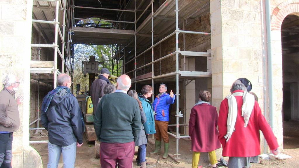 November 2019 future of Bonnevaux meeting tour of the renovation site