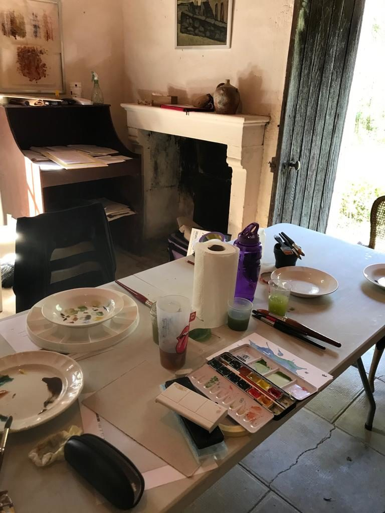Watercolours and Meditation Workshop Painting Room